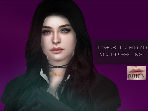 Players Wonderland: Mouthpreset N 13