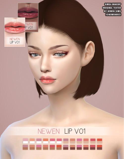 Newen: Eyeliner and Lashes V2, Eyebrows V2 and Lip V1