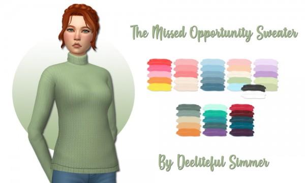 Deelitefulsimmer: The Missed Opportunity Sweater