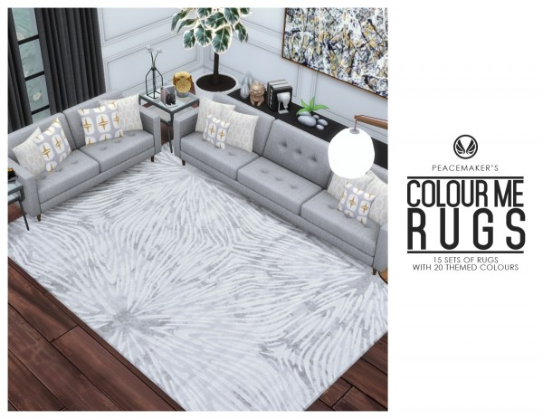 Simsational designs: Colour Me Rug Series: 15 items with 20 styles