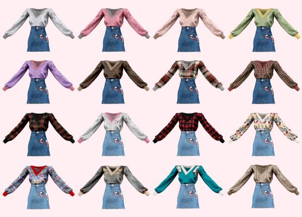 Rimings: Oversize Knit and Denim Skirt
