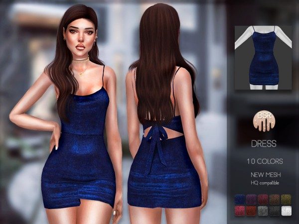The Sims Resource: Dress BD195 by busra tr