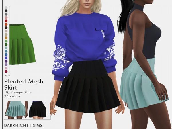 The Sims Resource: Pleated Mesh Skirt by DarkNighTt