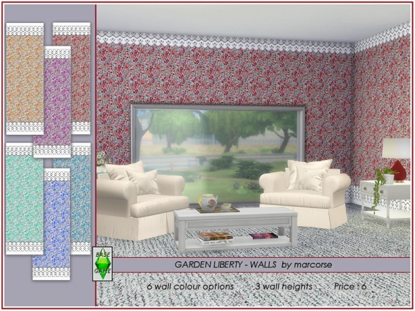 The Sims Resource: Garden Liberty   Walls by marcorse