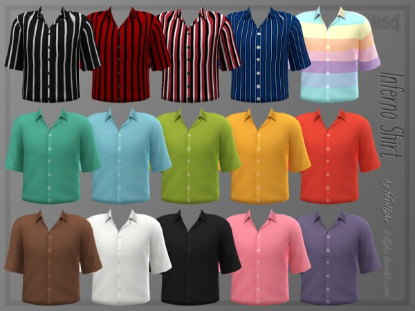 The Sims Resource: Inferno Shirt by Trillyke