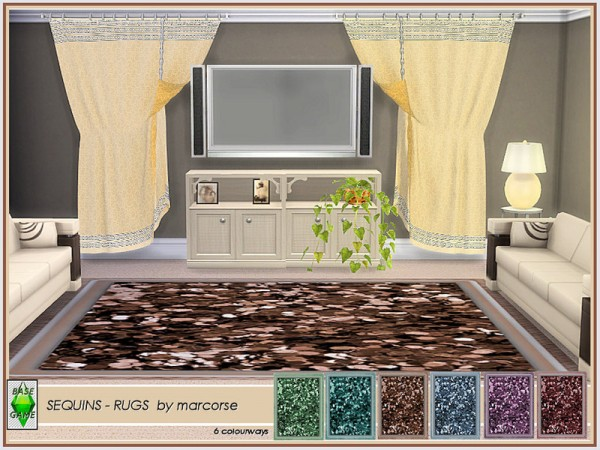 The Sims Resource: Sequins   Rugs by marcorse