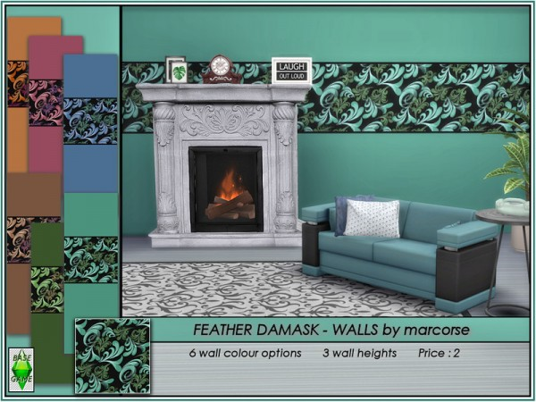 The Sims Resource: Feather Damask   Walls by marcorse