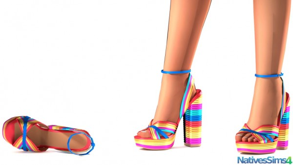 Natives Sims: Multicolored Sandals No Slider