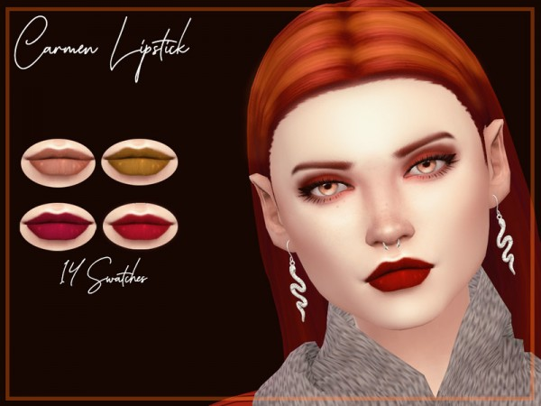 The Sims Resource: Carmen Lipstick by Reevaly