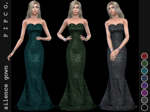 The Sims Resource: Silence gown by Pipco