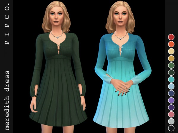 The Sims Resource: Meredith dress by Pipco