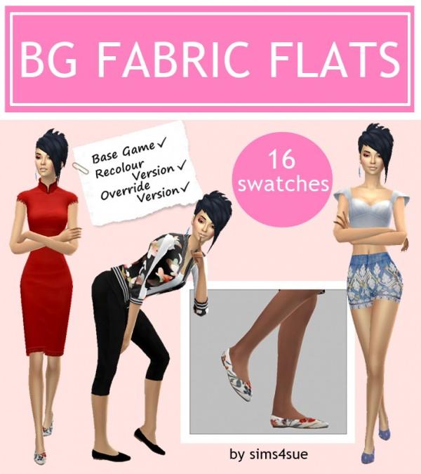 Sims 4 Sue: Fabric flats