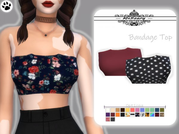 The Sims Resource: Bandage Top by MsBeary