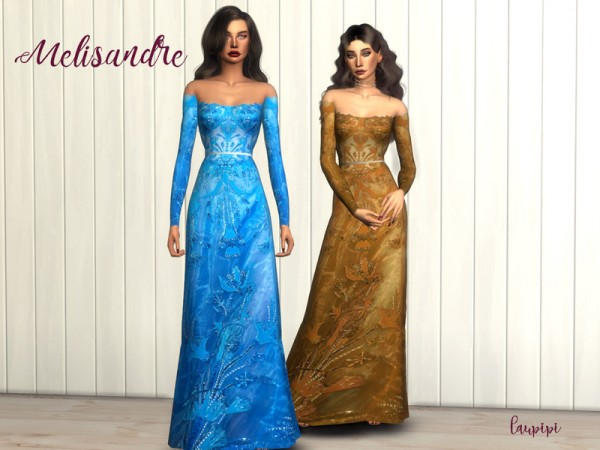 The Sims Resource: Melisandre Dress by laupipi