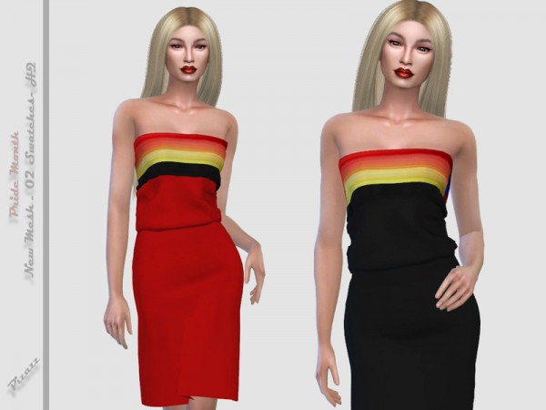 The Sims Resource: Pride Month Dress 01 by  pizazz