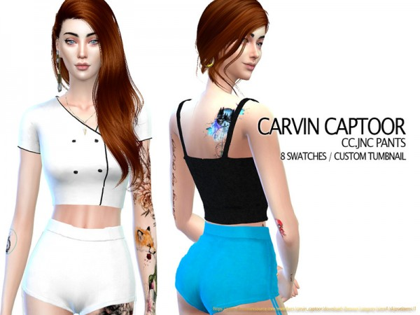 The Sims Resource: JNC Pants by carvin captoor