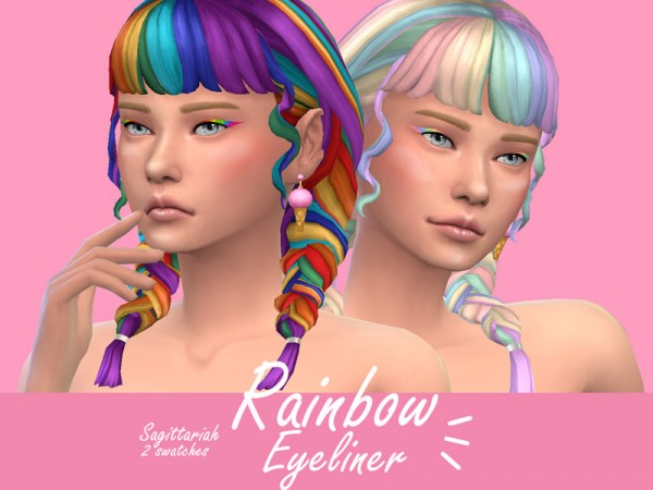 The Sims Resource: Rainbow Eyeliner by Sagittariah