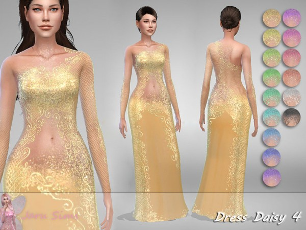 The Sims Resource: Dress Daisy 4 by Jaru Sims