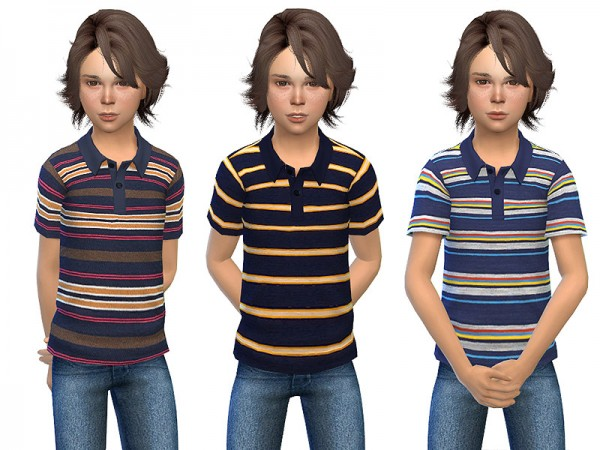 The Sims Resource: Polo Shirt for Boys 01 by Little Things