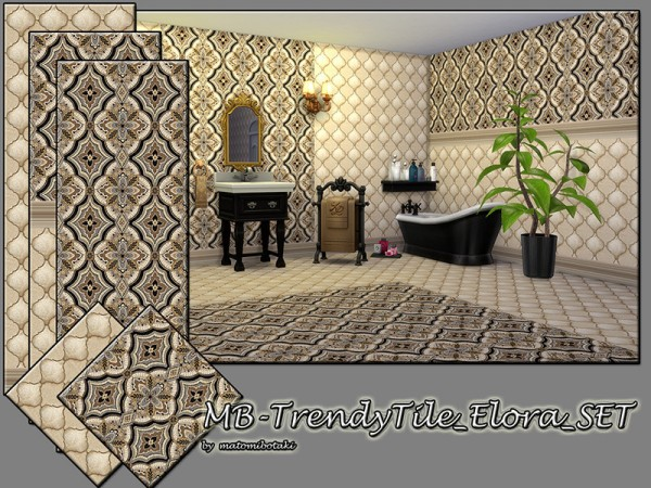 The Sims Resource: Trendy Tile Elora set by matomibotaki
