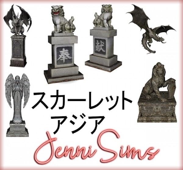 Jenni Sims: Decorative Statues 6 items
