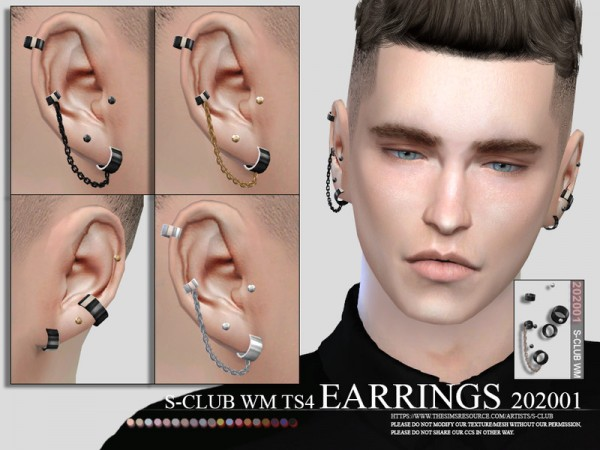 The Sims Resource: EARRINGS 202001M by S Club