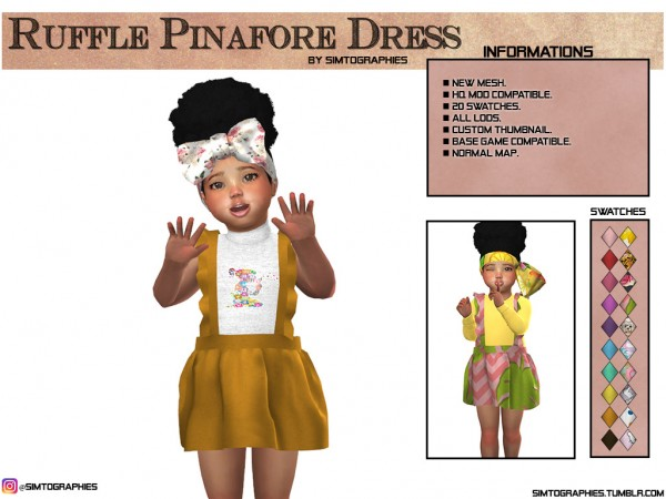 Simtographies: Ruffle Pinafore Dress