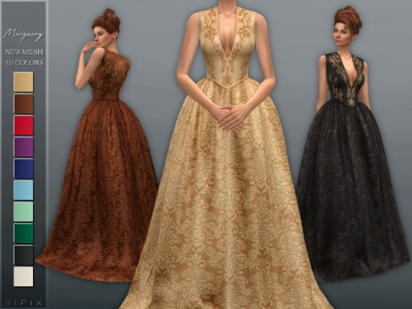 The Sims Resource: Margaery Dress II by Sifix