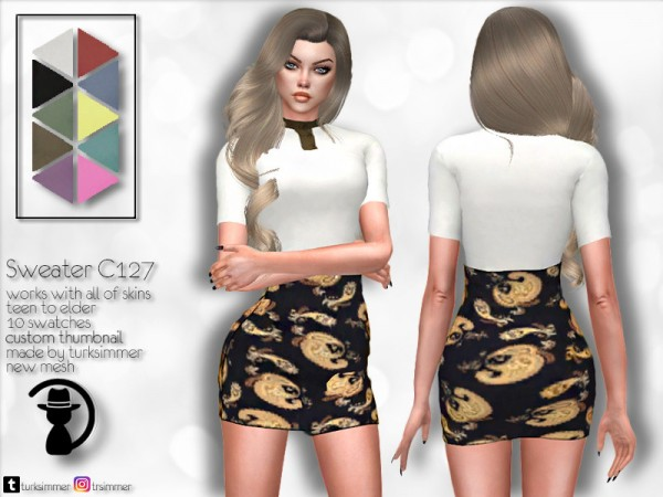 The Sims Resource: Sweater C127 by  turksimmer [I am from TURKEY]