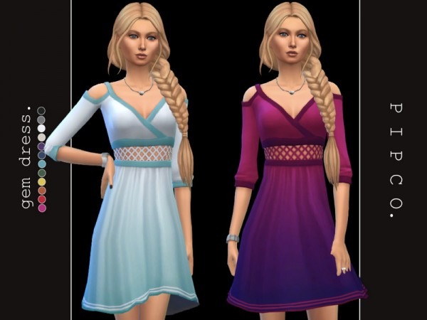 The Sims Resource: Gem dress by Pipco