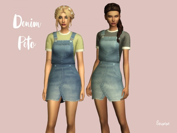 The Sims Resource: Denim Peto by laupipi
