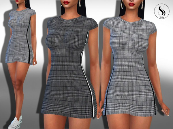 The Sims Resource: Plaid Sport Trendy Dresses by Saliwa