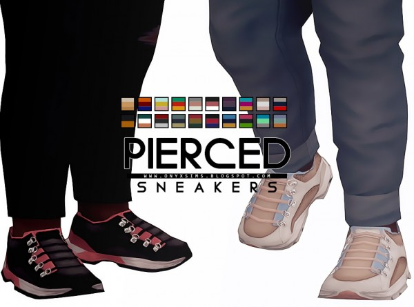 Onyx Sims: Pierced Sneakers for Kids and Toddlers