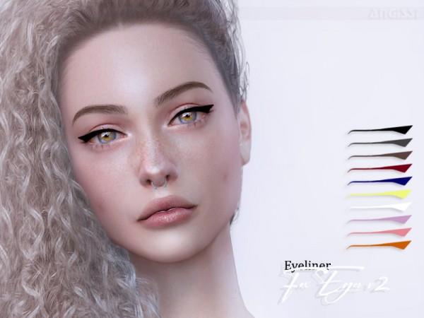 The Sims Resource: Eyeliner   Fox Eyes v2 by ANGISSI