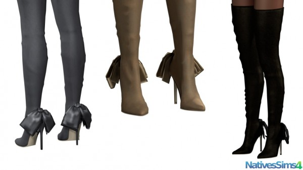 The Sims 4 Snake Thigh Tatoo: Natives Sims: Thigh High Boots No Slider • Sims 4 Downloads