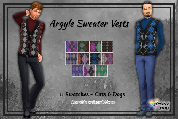 Strenee sims: Men's Sweater Vests
