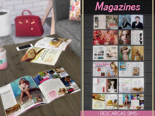 Descargas Sims: Magazines
