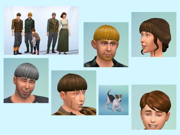 KyriaTs Sims 4 World: Blacksmith Svartmyr and family