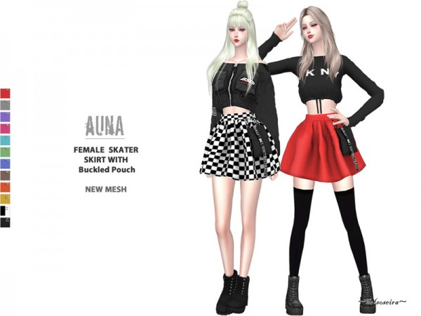 The Sims Resource: AUNA   Mini Skirt with Pouch by Helsoseira