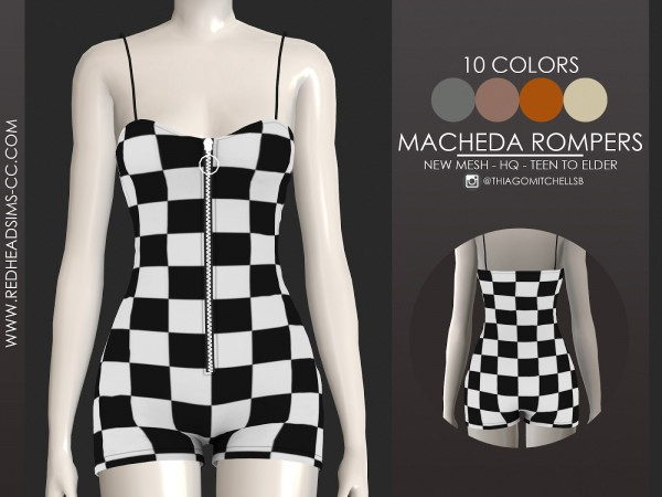 Red Head Sims: Macheda rompers