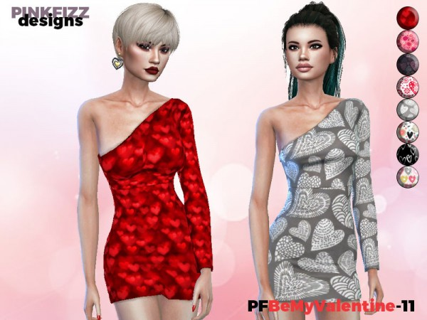 The Sims Resource: Be My Valentine   Dress by Pinkfizzzzz