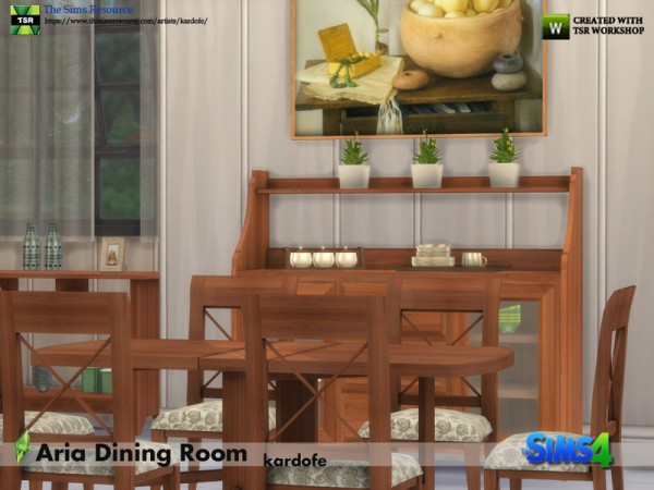 The Sims Resource: Aria Dining Room by kardofe