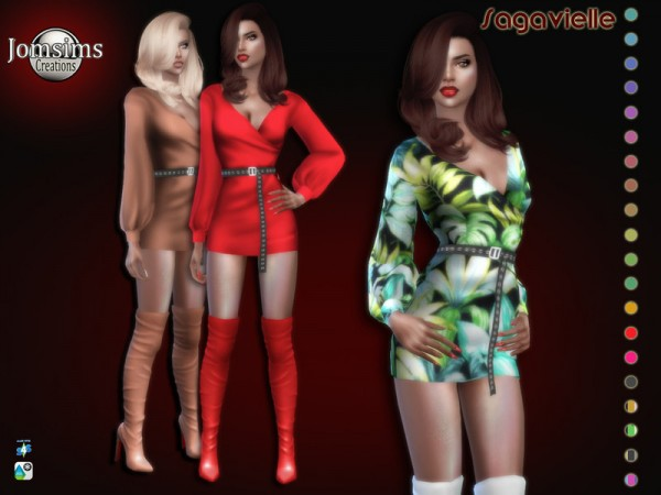 The Sims Resource: Sagavielle dress by jomsims