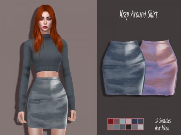 The Sims Resource: Wrap Around Skirt by Lisaminicatsims