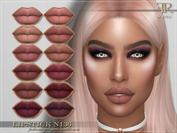 The Sims Resource: Lipstick N136 by FashionRoyaltySims