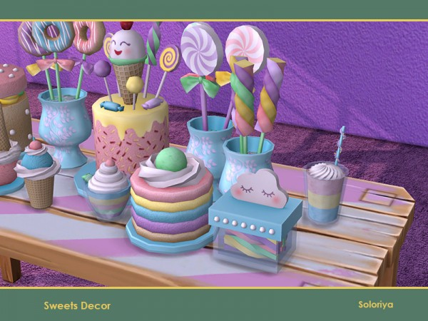 The Sims Resource: Sweets Decor by soloriya