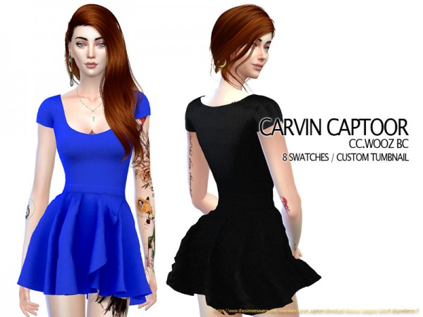 The Sims Resource: Wooz BC Dress by carvin captoor