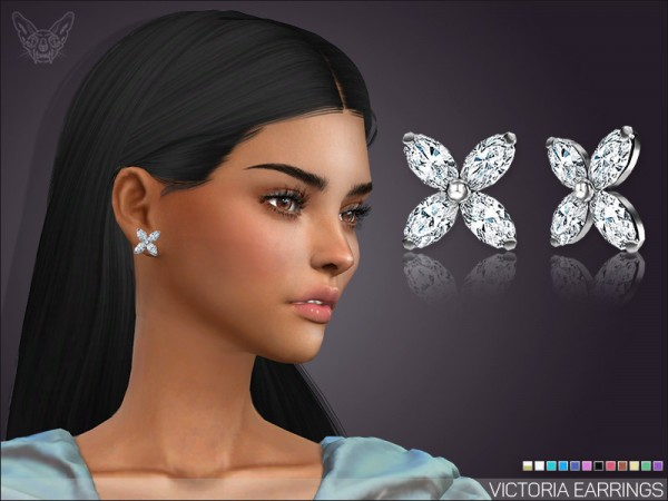 The Sims Resource: Victoria Stud Earrings by feyona