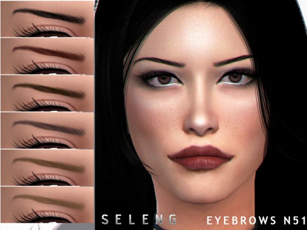 The Sims Resource: Eyebrows N51 by Seleng
