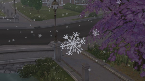 Mod The Sims: Real Snowflakes Override by Simaginarium